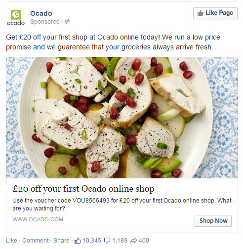 Ocado Facebook Ad - State of Digital