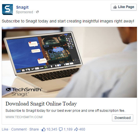 Snagit - Facebook Ad - State of Digital