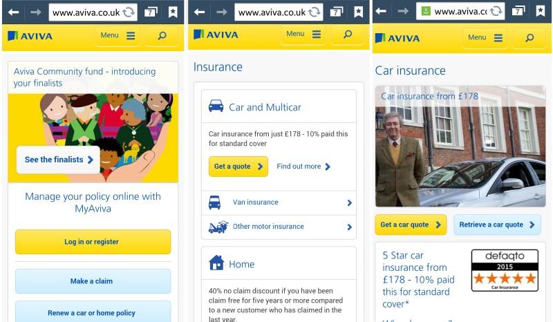 Aviva Mobile Customer Experience - State of Digital
