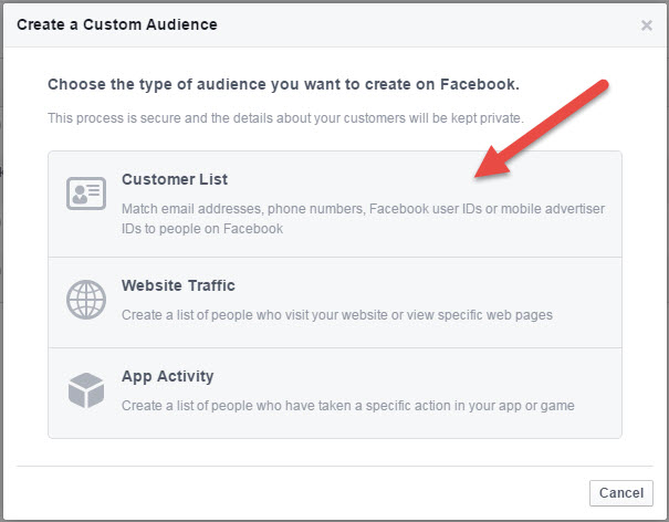 Facebook Customer Email List - State of Digital