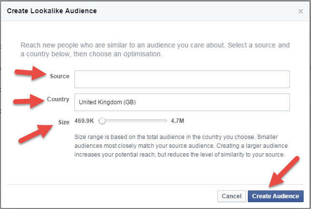 Create Lookalike Facebook - State of Digital