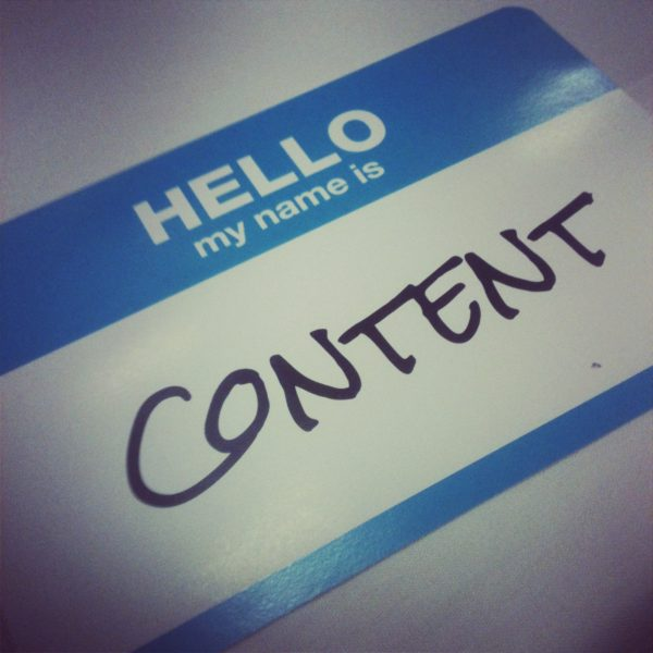 My name is content - State of Digital