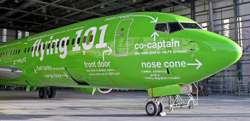 The amazing and funny paintjob on a Kulula airplane
