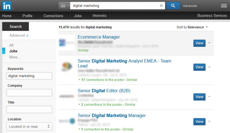 Digital Marketing jobs on LinkedIn