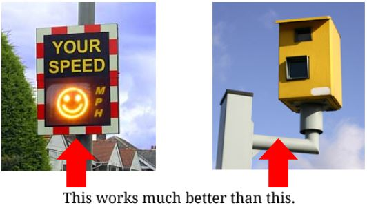 Smiley facesd work better than speed Cameras