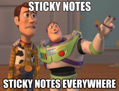 sticky notes meme