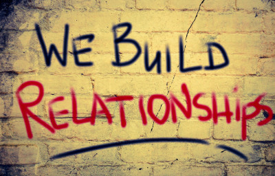 We Build Relationships Concept