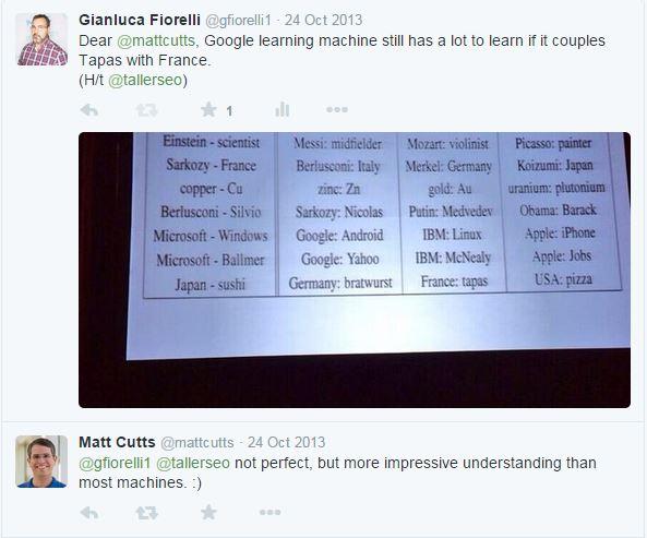 Matt Cutt Machine Learning baby steps Pubcon 2013