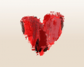 Heart painting image