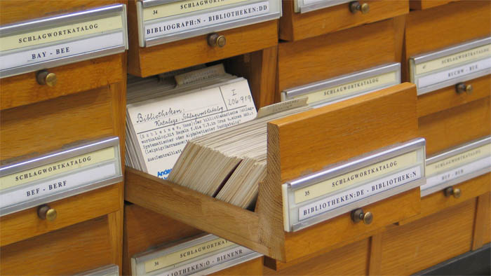 Library card index