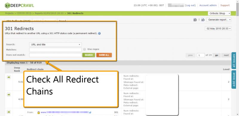 Check Redirects