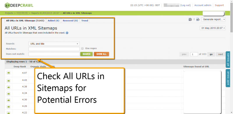 Crawl Sitemaps for Errors