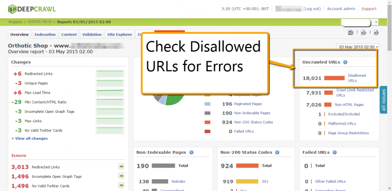 Discover Disallowed URLs