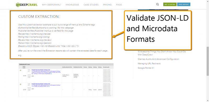 Check Implementation of Structured Data