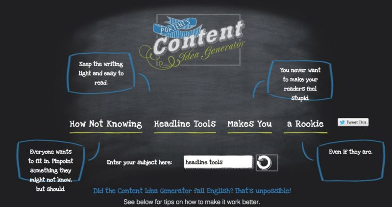 9 useful headline tools here is all you need to know for Portent title maker