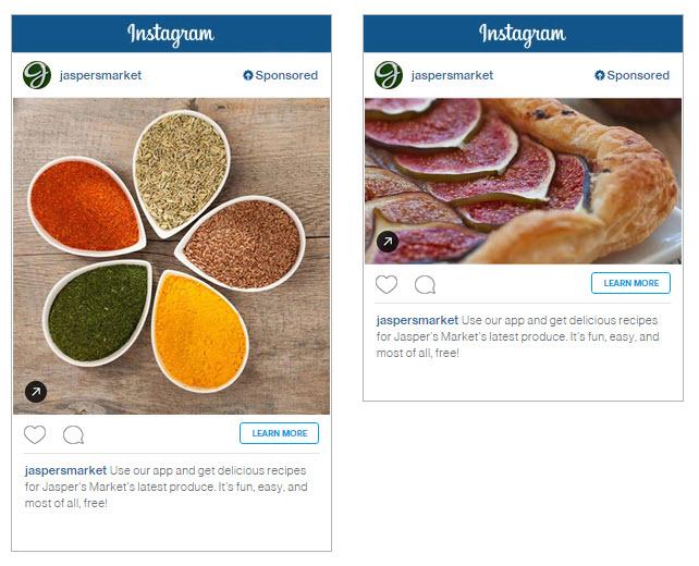 Instagram Clicks to Website Ad Example