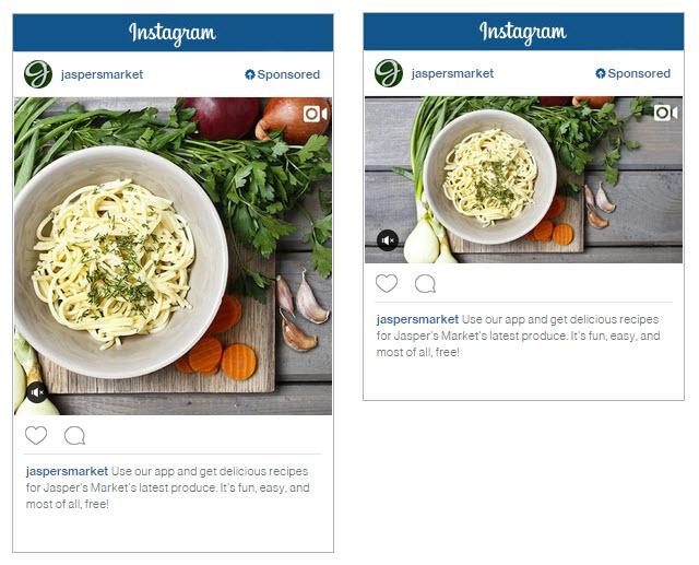 Instagram Video Views Ad Example