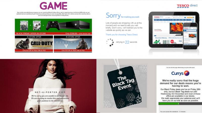 Retailers sites fail