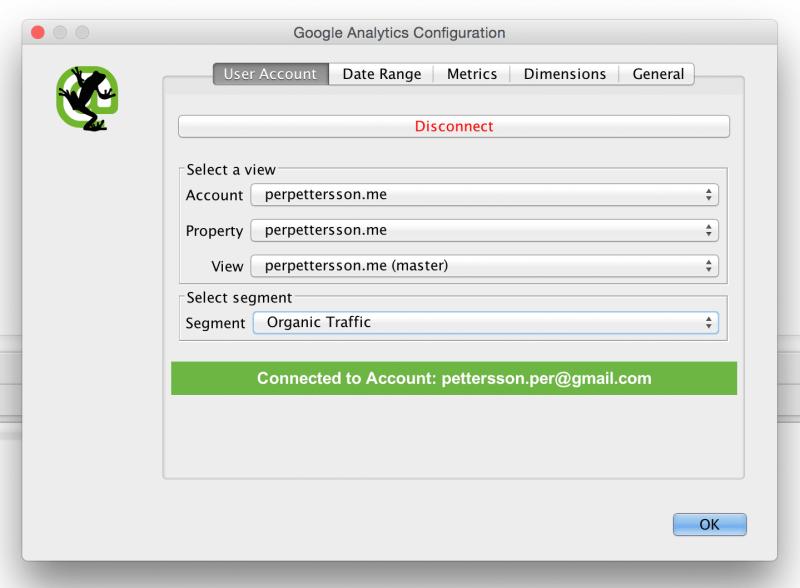 Connect to Google Analytics API