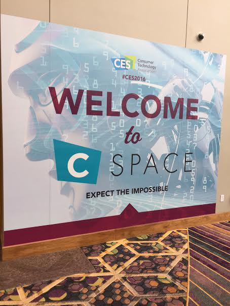 C Space welcome sign 2016