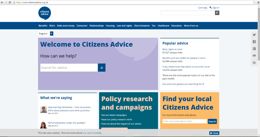 Citizens' Advice Bureau