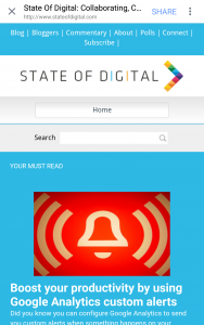 StateOfDigital.com in Facebook's in -app browser