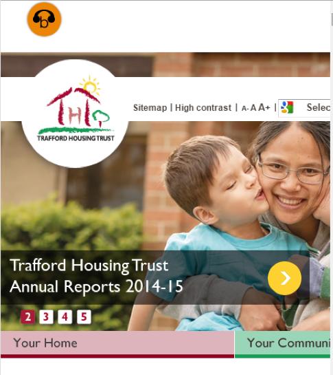 Trafford Housing Trust website