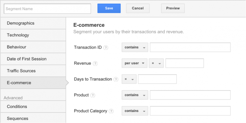 E-Commerce Segment