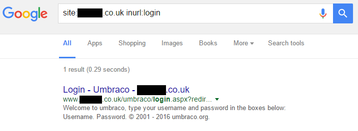 Google login query