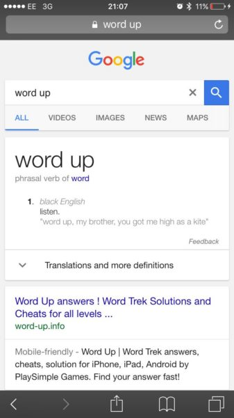 Word Up Knowledge Graph