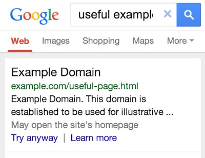 Faulty Redirect SERP Signal