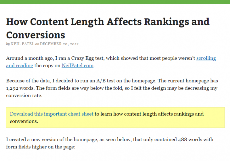 How content length affects rankings and conversions
