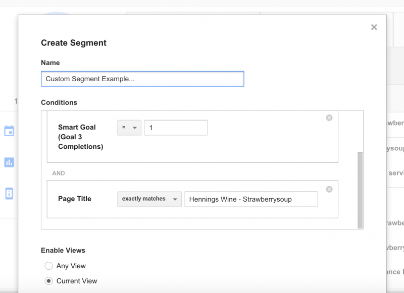 User Explorer Custom Segment