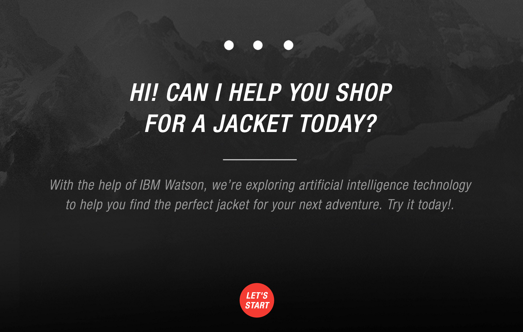 Artificial Intelligence on North Face