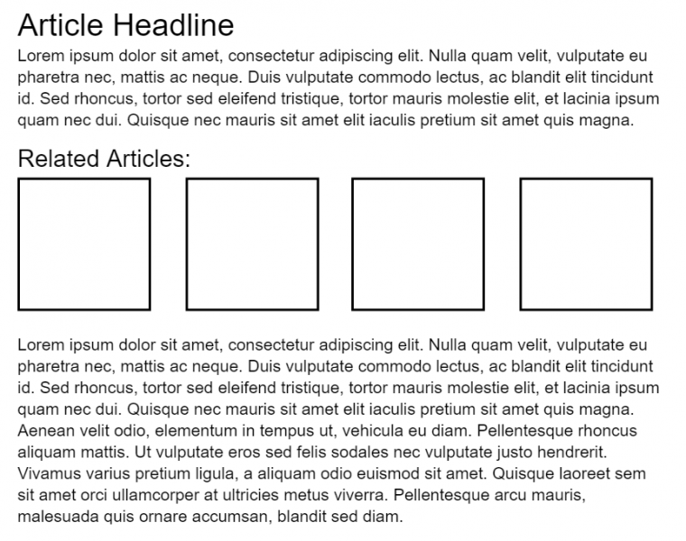 Fragmented article