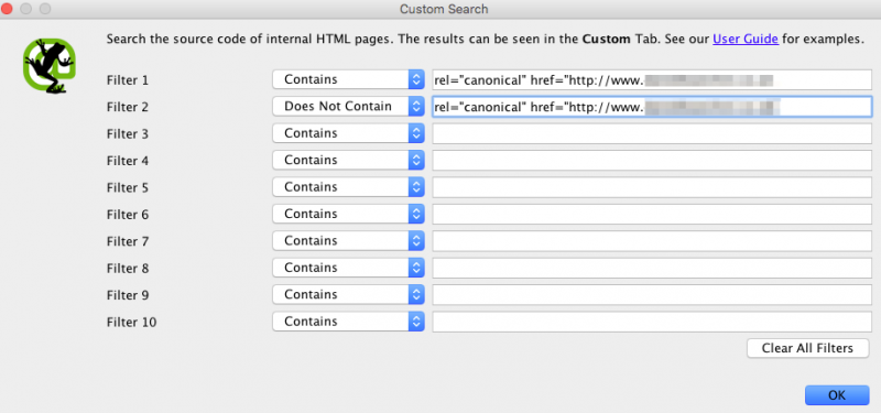 16.08 - GTM Search Filter - Rel Canonical