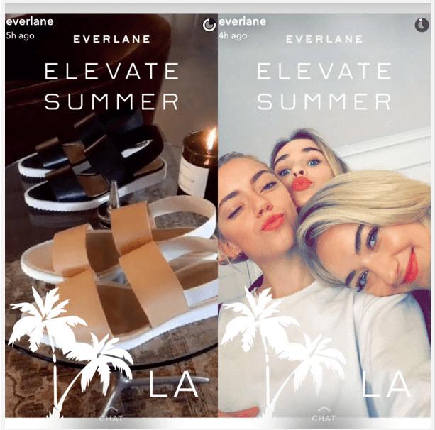 Everlane Snapchat Geofilter Example