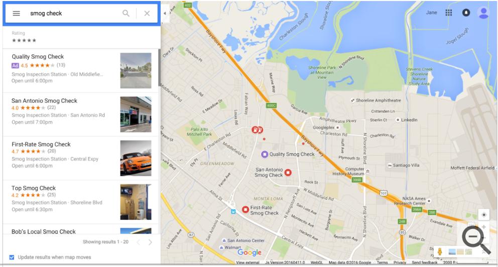 Local Search Ad Desktop