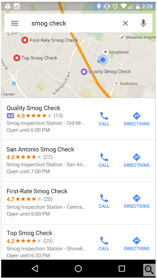 Local Search Ad Mobile