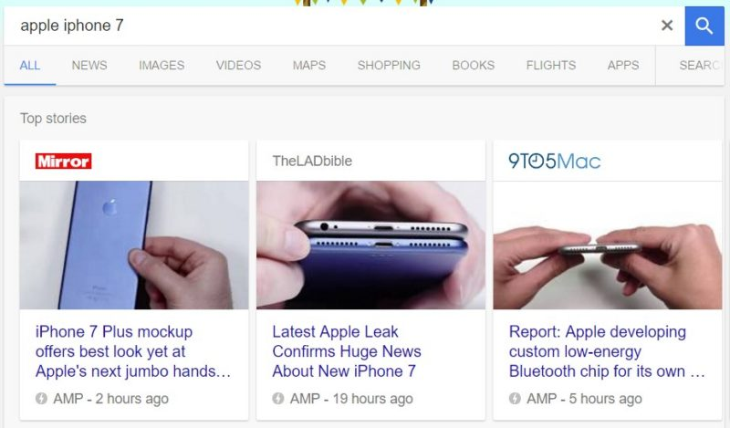 Apple iPhone AMP Search
