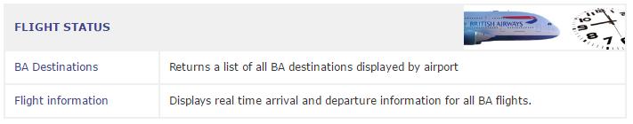 British Airways APIs