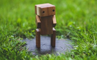 chatbot standing outside