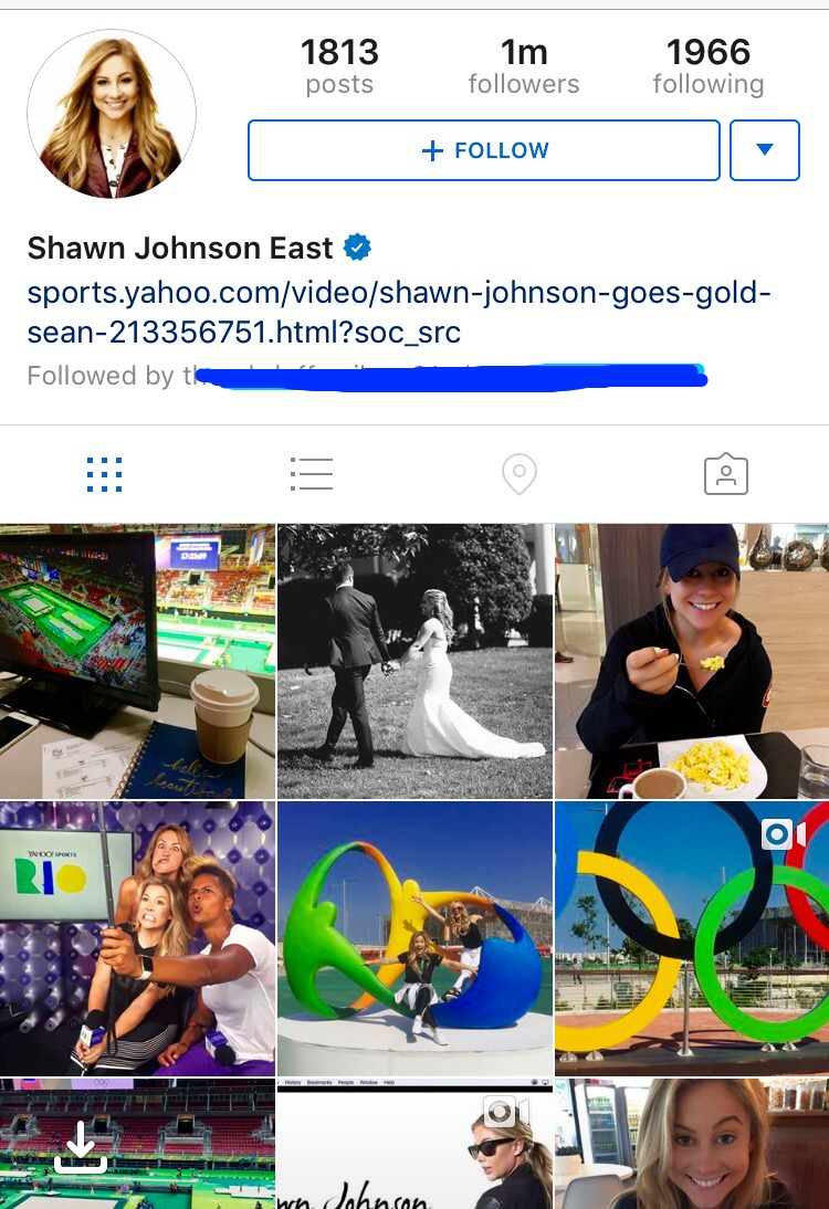 shawn johnson insta
