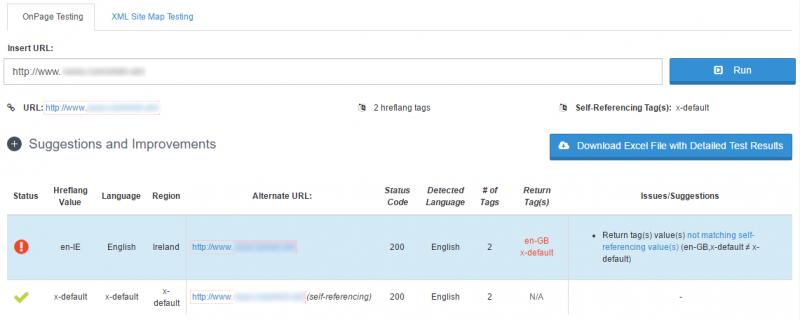 HREFlang validator tool