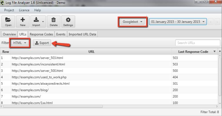 Log File Data