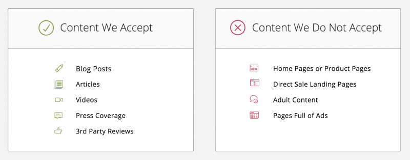 Outbrain Content Guidelines