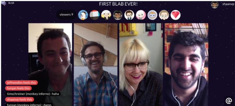 Blab group video chat example