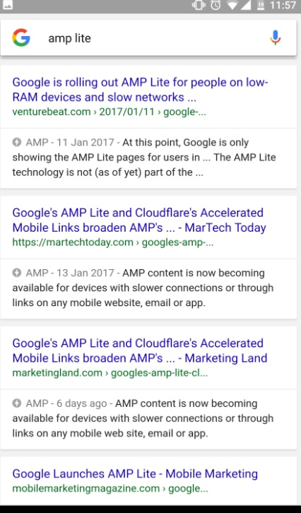 amp example serp