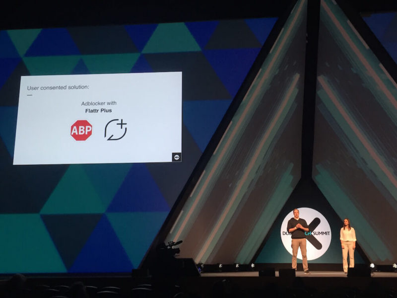 Adblocker Flattr Plus presentation Dublin at Tech Summit