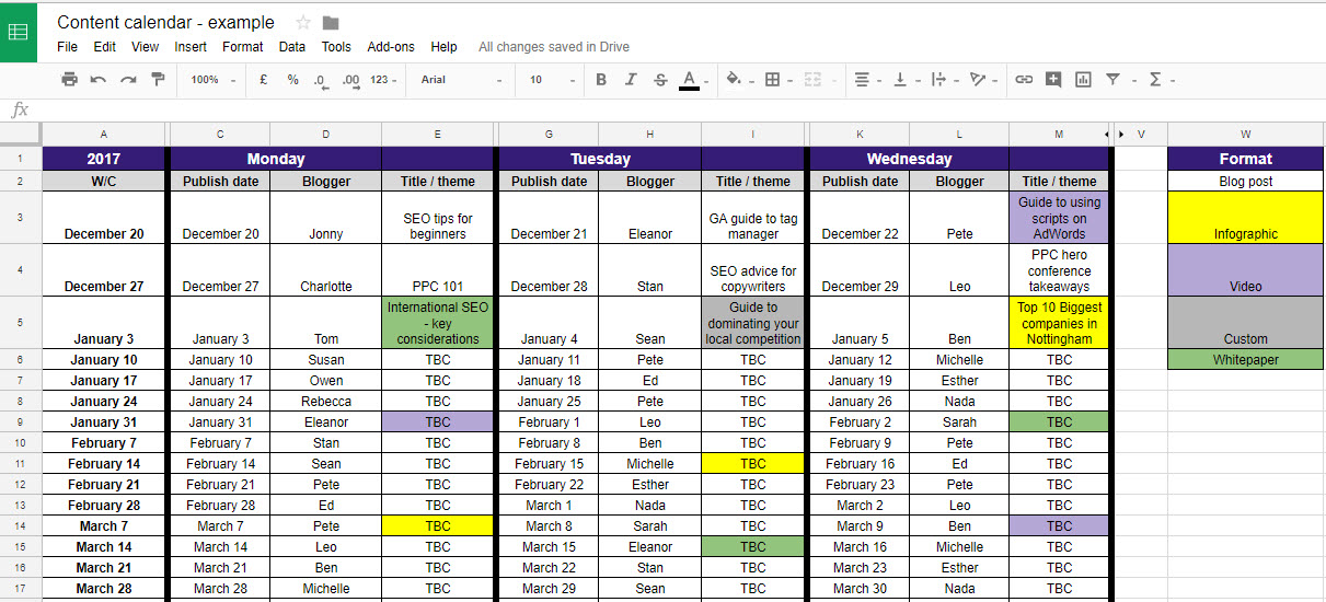monthly editorial calendar template - 4 tools to help manage your editorial content calendar